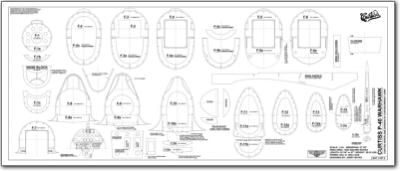 Curtiss P 40 Warhawk 1 4 6 Plans Jb Laser Cut Kits