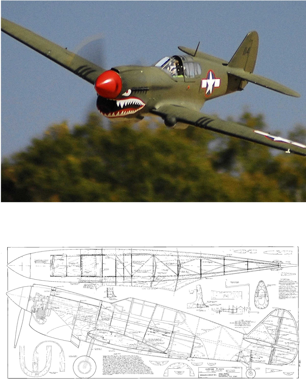 Curtiss P 40 Warhawk 1 4 8 Laser Parts Kit Nz