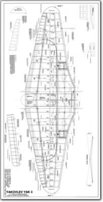 Russian Yak 3 Fighter 1 5 3 Plans Jb Laser Cut