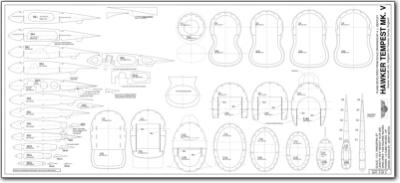 Hawker Tempest V 1 5 6 Plans Jb Laser Cut Kits Australia
