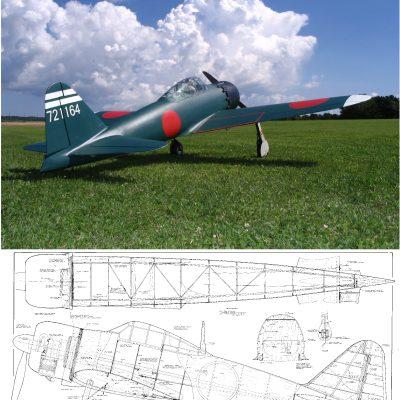 Mitsubishi A6M5 Zero {1/4 8} – Plans (NZ) | Laser Cut Kits