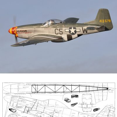 North American P-51D Mustang {1/4 6} – Plans (NZ) | Laser