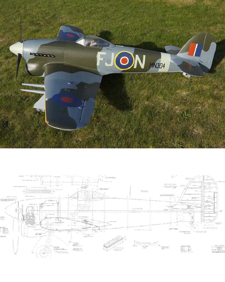 Hawker Typhoon {1/5} - Laser Parts Kit (VA)